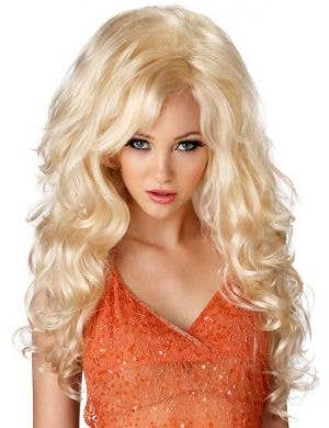 Curly Blonde Women's Costume Wig Main Image