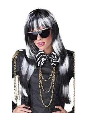 Untamed Punk Black and White Women's Wig
