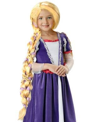Rapunzel Girls Braided Long Blonde Wig