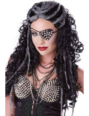Dreadful Curly Black Halloween Wig