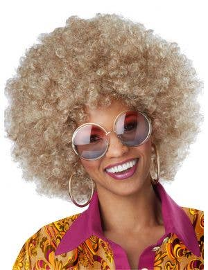 Foxy Lady Women's 1970's Blonde Afro Costume Wig