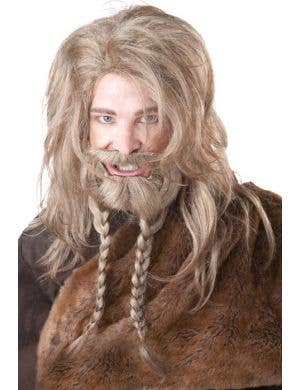 Deluxe Blonde Viking Wig and Beard Men's Set