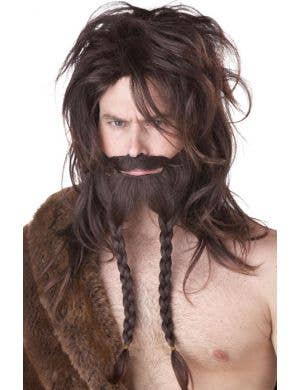 Deluxe Brown Viking Wig and Beard Set