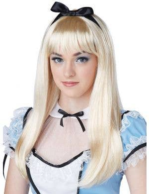 Alice in Wonderland Long Blonde Women's Costume Wig