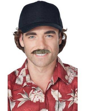 Men's Retro Magnum P.I. Costume Moustache Accessory