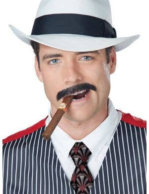 Men's Thin Black Gangster Moustache Costume Accessory
