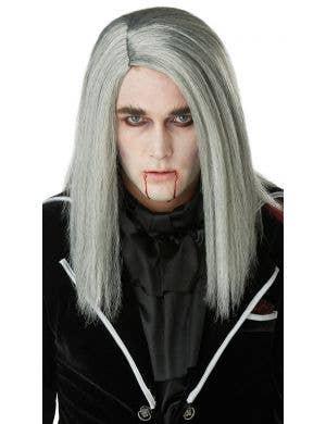 Bloodthirsty Vampire Grey Men's Halloween Wig