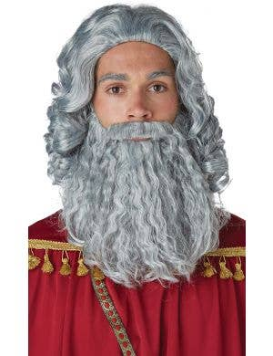Biblical King Men's Wig and Beard Costume Set