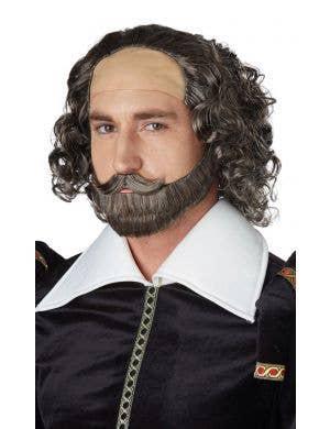 William Shakespeare Men's Grey Wig and Beard Set