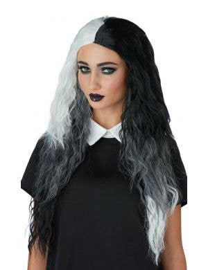 Double Dare Women's Black White and Grey Costume Wig