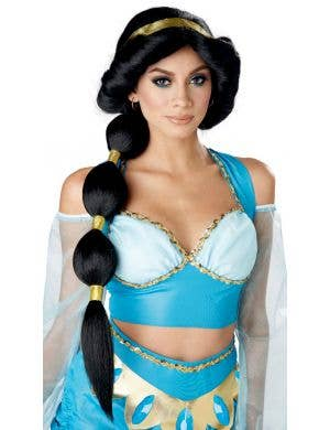 Desert Women's Princess Jasmine Black Ponytail Costume Wig