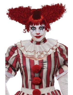 Creepy Clown Women's Red Halloween Costume Wig