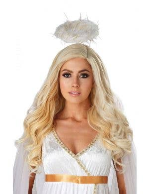 Golden Angel Women's Wavy Blonde Wig Costume Accessory