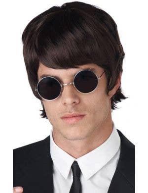 60's Mop Top Men's Dark Brown Beatles Costume Wig