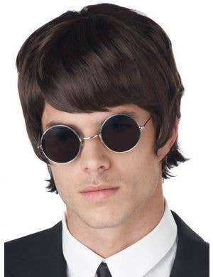 60's Mop Top Men's Dark Brown Beatles Costume Wig