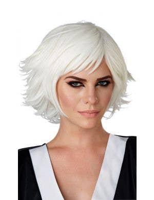Cosplay White Layered Women's Costume Wig