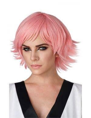 Cosplay Pink Layered Women's Costume Wig