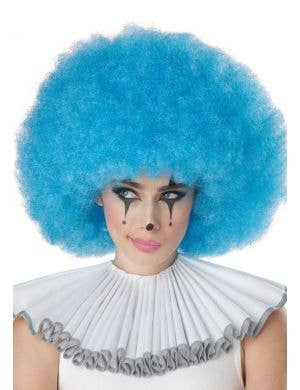 Jumbo Pale Blue Adult's Clown Afro Costume Wig