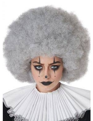 Jumbo Silver Grey Adult's Clown Afro Costume Wig