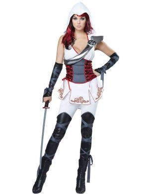 Sexy Women's Ninja Assassin Fancy Dress Costume