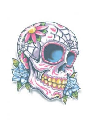 Day of the Dead Calaveras Sugar Skull Halloween Temporary Tattoo