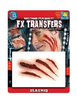 Hollywood Quality Fake Slash Wounds 3D Tattoo Transfer