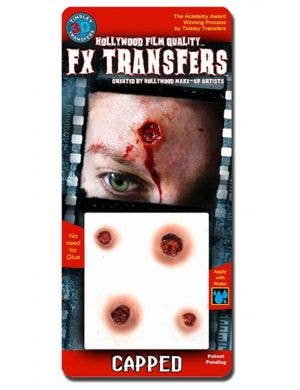 Bullet Hole 3D Special Effects Transfer Halloween Wounds