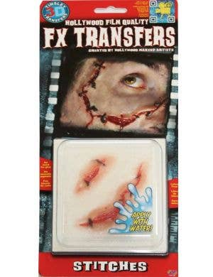 Skin Stitches 3D Special Effects Transfer Halloween Wound