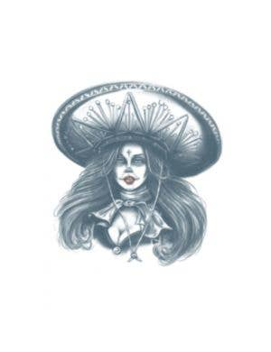 Bandita Day Of The Dead Special FX Temporary Tattoo Costume Accessory