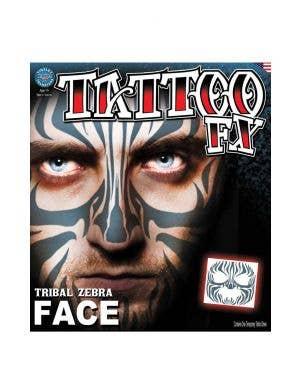 Tribal Print Temporary Face Tattoo Makeup Main Image