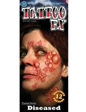 Diseased Skin Creepy Temporary Tattoo Main Image