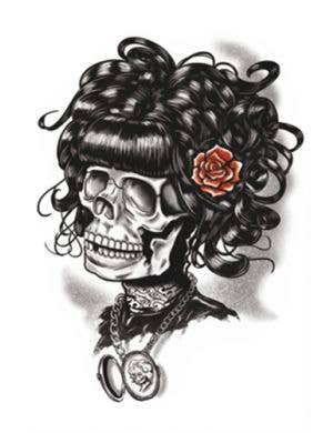 Doris The Dead Gothic Temporary Tattoo Costume Accessory