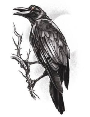 The Raven Realistic Temporary Tattoo Costume Accessory