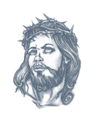 Jesus Prisoner Temporary Tattoo Costume Accessory