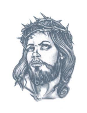 Jesus Prisoner Temporary Tattoo Costume Accessory