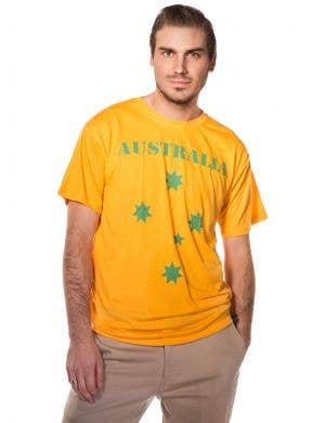 Yellow and Green Australia T-Shirt Front View