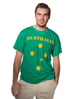 Green and Gold Australia T-Shirt Front View