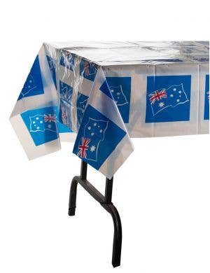 White Table Cover with Australian Flag Main Image