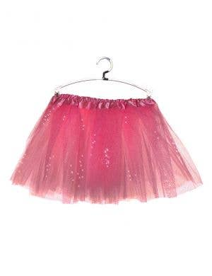 Sparkly Pink Petticoat for Girls Front View