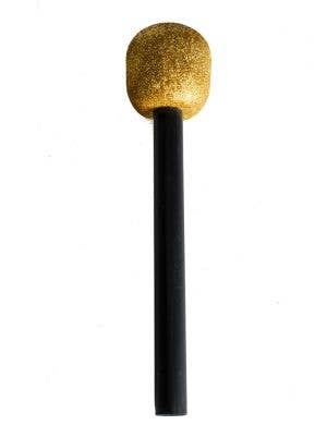 Novelty Gold Glitter Microphone Costume Accessory Main View