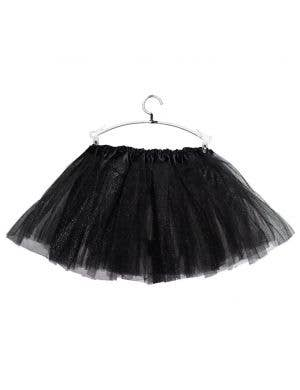Sparkly Black Petticoat for Girls Front View