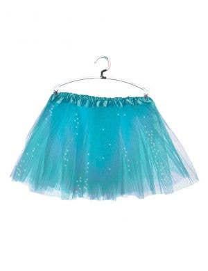 Sparkly Blue Petticoat for Girls Front View