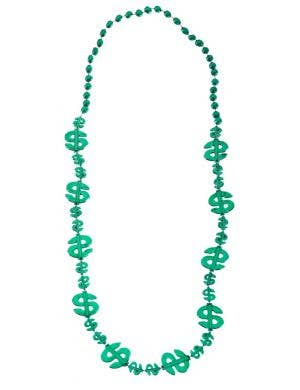 Dollar Sign Green St Patrick's Day Necklace