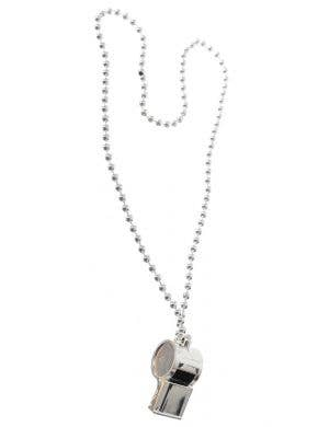 Referee Silver Whistle Necklace Costume Accessory