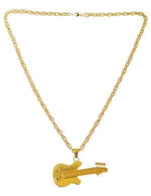 Deluxe Gold Guitar Rock Star Costume Necklace