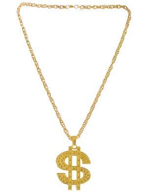 Deluxe Gold Dollar Necklace Gangster Costume Accessory