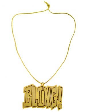 Bling Gold Jumbo Pimp Necklace Costume Accessory