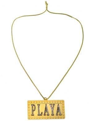 Playa Jumbo Pimp Gold Pendant Costume Necklace