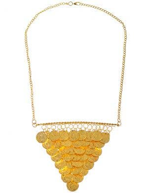 Gold Coins Ancient Goddess Costume Necklace