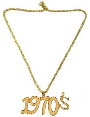 70's Disco Gold Medallion Costume Necklace